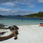White sandy beaches on the West coast Scotland