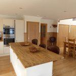 Open plan kitchen island